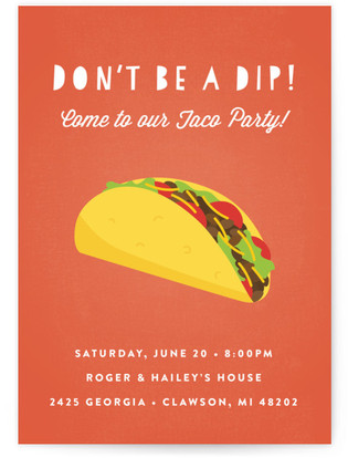 Don't Be A Dip Dinner Party Online Invitations