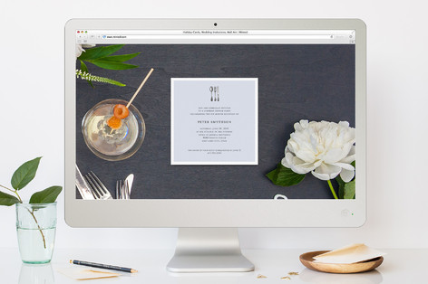 Simple Things Dinner Party Online Invitations