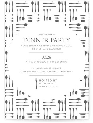 Silverware Dinner Party Online Invitations