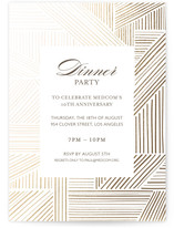 Elegant Fete Dinner Party Online Invitations