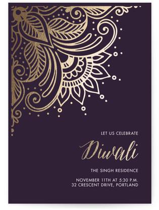 Gilded Rangoli Diwali Online Invitations
