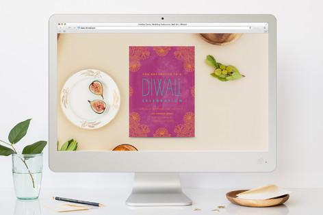 Magic Lotus Diwali Online Invitations