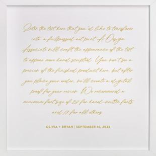 Your Vows as a Foil Art Print Drawn Foil Art