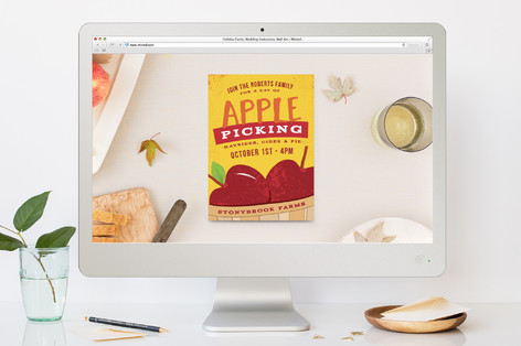 Apple Picking Party Fall Party Online Invitations