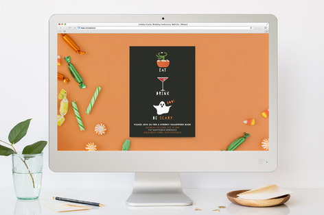 Eat, Drink, Be Scary Halloween Online Invitations