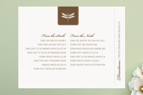 Classic Dragonfly Emblem Direction Cards