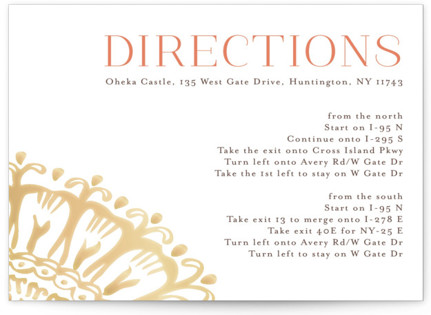 Modern Mehndi Directions Cards