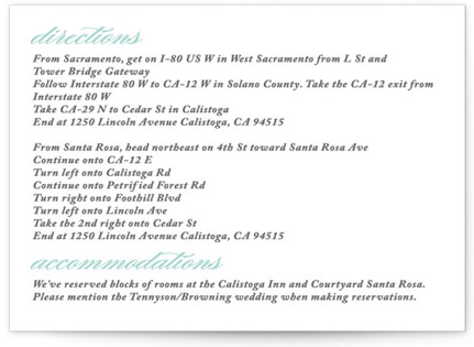 Cordial Flourish Directions Cards