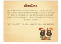 Tiki Luau Direction Cards