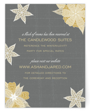 Charcoal and Floral Directions Cards