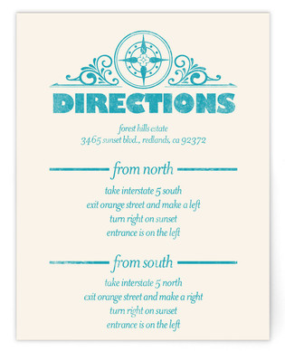 Classically Modern Directions Cards