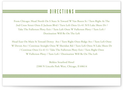 Metro Green Line Directions Cards