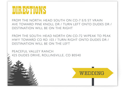 Enchanted Forest Directions Cards