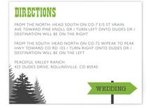 Enchanted Forest Direction Cards