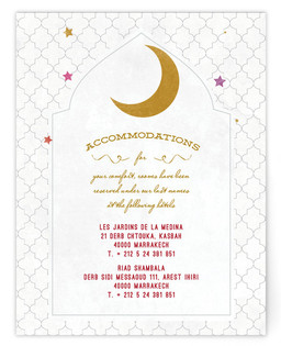 A Wedding in Marrakesh Directions Cards