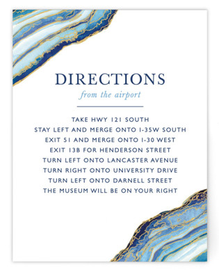 Gilt Agate Directions Cards