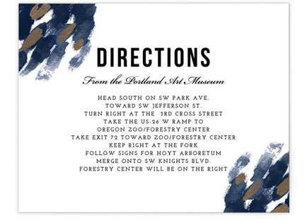 Midnight And Gold Directions Cards