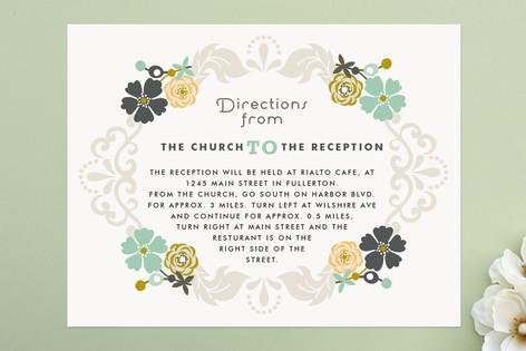 Floral Frame Direction Cards