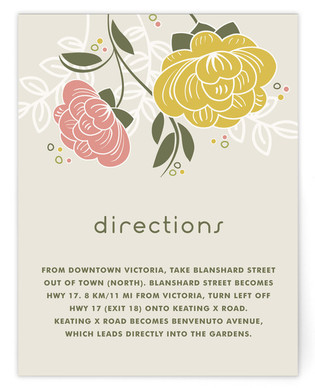 Breezy Bouquet Directions Cards