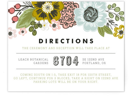 Seed Packet Directions Cards