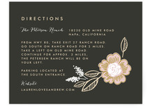 Botanical Wreath Direction Cards