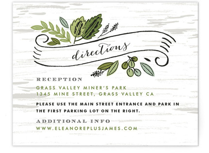 Birch Bark Woods Directions Cards