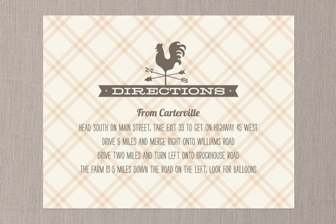 Country Classic Direction Cards