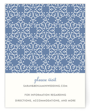 Winter Wedding Directions Cards