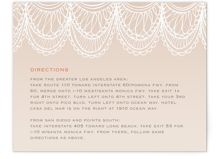 Mantilla Spanish Lace Directions Cards