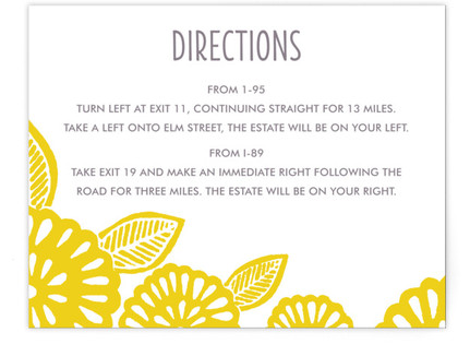 Bold Block Print Directions Cards