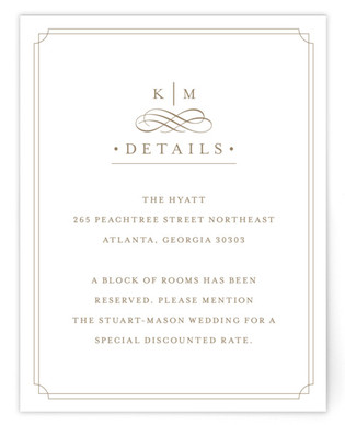 A Glamorous Affair Directions Cards