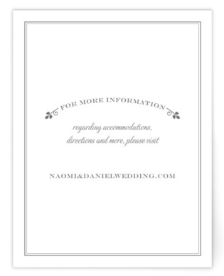 Wedding Boughs Directions Cards
