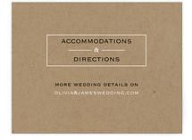 Vintage Kraft Direction Cards