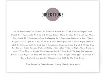 Dot and Cross Direction Cards