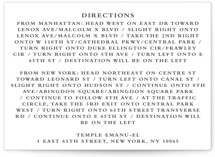 Notable Direction Cards