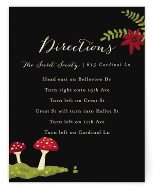 Bell Jar Directions Cards