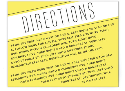 On A Slant Directions Cards