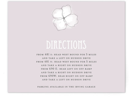 Sweet Hydrangea Directions Cards