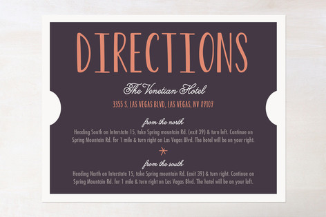 The Winning Ticket Direction Cards