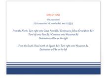 Regatta Direction Cards