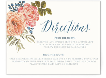 Garden Rose Directions Cards