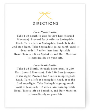 Sweet Boutique Directions Cards