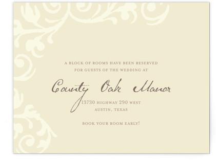 Elegant Flourish Directions Cards
