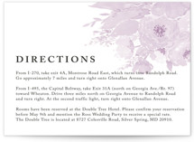 fresh watercolor floral Direction Cards