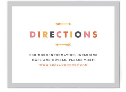 Modern Arrow Directions Cards