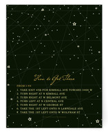 Star Map Direction Cards