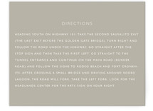 Sea Scape Directions Cards