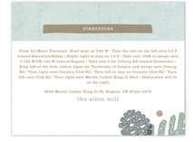 Rustic Pinecones Direction Cards