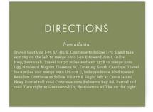 Havana Direction Cards