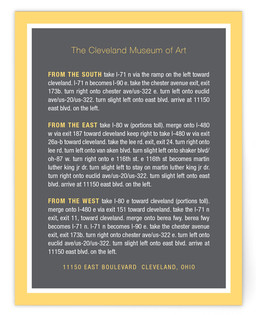 Museum Directions Cards